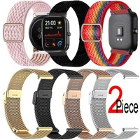 Cinturino Milanese/Nylon per Xiaomi Huami Amazfit Bip U S Lite GTS 2 Mini/2e GTR 2 hay485 Solar LS02/LS05S Smart Watch Band Bracelet