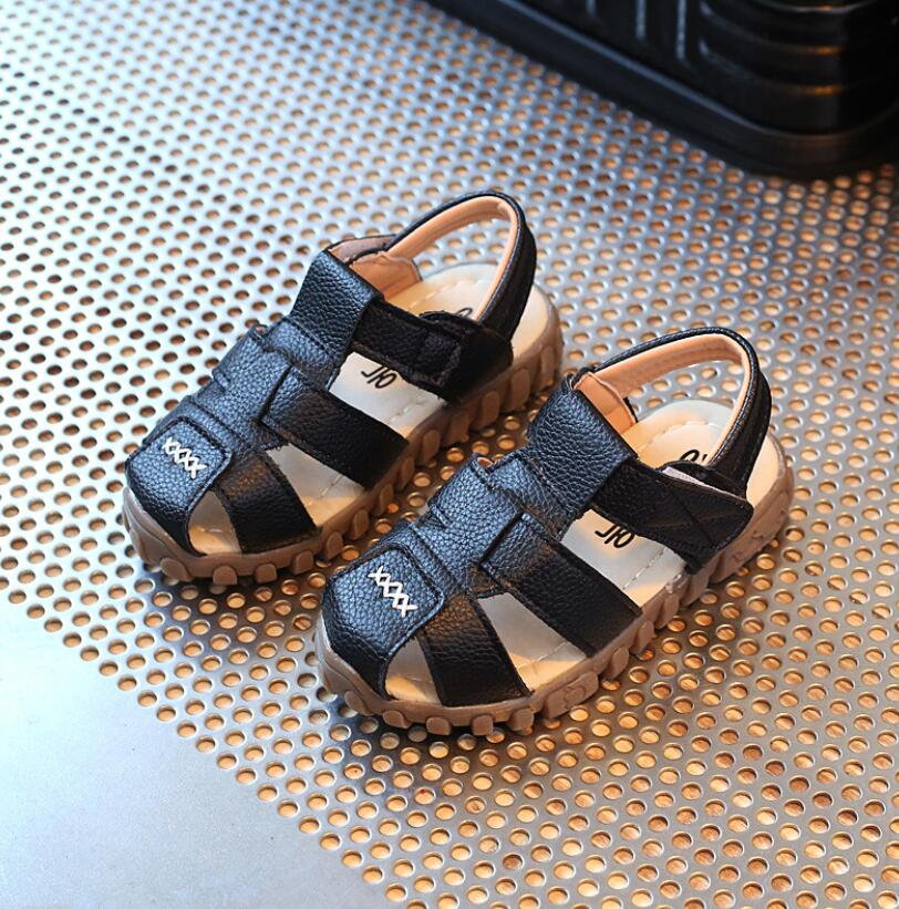 Leather Sandals Boys 2019 100% Soft Leather In Summer The New Boys And Girls Children Beach Shoes Kids Sport Sandals Princess