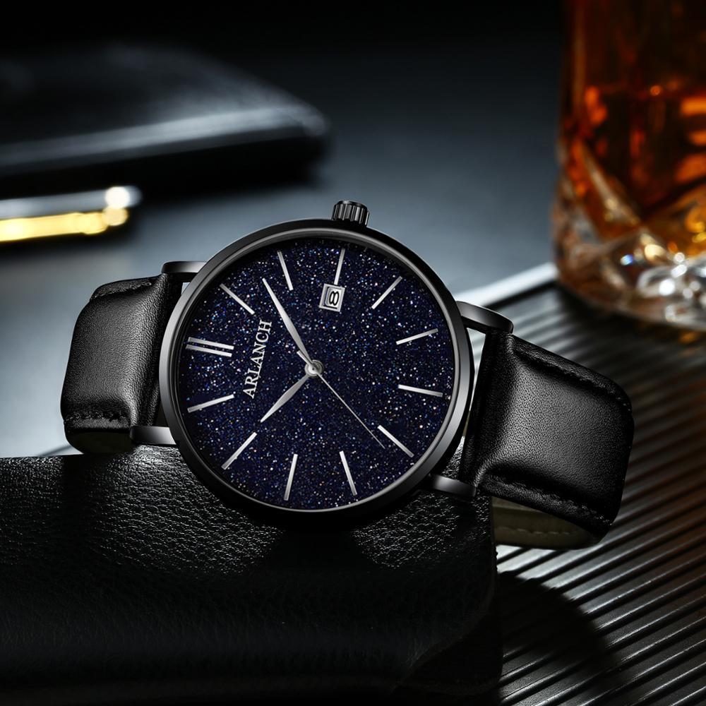 2020 Мужские часы с циферблатом сияющими звездами tide trill