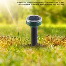 2 pçs movido a energia solar ultra sônico rato sônico mole pragas roedor repelente quintal repelente de luz led ao ar livre lâmpada quintal jardim