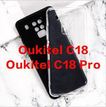 Para oukitel c18 pro silicone capa macia tpu preto fosco protetor do telefone escudo para oukitel c18 pro capa coque capa traseira caso