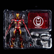 Wonderen Anime Action Figure Met Doos SHF Iron Man MK50 Nano Wapens Ironman Mark 50 Tony Stark SHF Avenger Endgame infinity War(China)