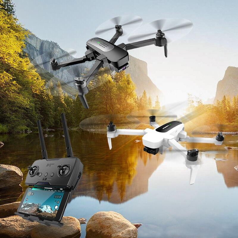 Квадрокоптер Hubsan H117S Zino, радиоуправляемый с автоматическим складыванием крыльев и высокой скоростью, 3 осевой, GPS, 5.8G, 1 км, камера 4К