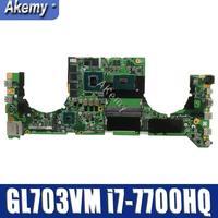 GL703VM DA0BKNMBAB0 w i7 7700HQ CPU w N17E G1 A1 GPU for Asus GL703VM Laptop Motherboard System Board Mainboard|Motherboards| |  -