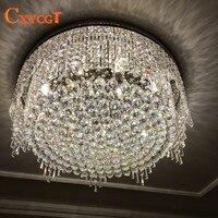 Modern crystal chandelier round lamp bedroom lamp luxury cornucopia living room lamp