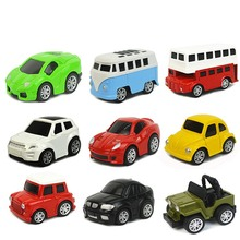 1Set Pull Back Car Toys Children Racing Car Mini Cars Cartoon Pull Back Bus Truck Kids Boy Toys For Children Birthday Xmas Gifts 6pcs lot multicolor plastic cartoon mini pull back boy car model toys set educational toy for children car toys