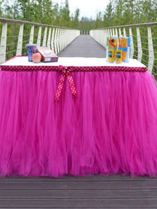 Tutu Table-Skirt Gauze-Element Party-Decoration Roll Tulle DIY Wedding Birthday Spool