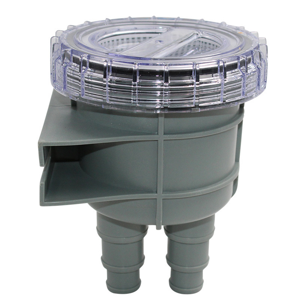 Strainer Easy Install Boat Intake Multi-interface Rafting Accessories Drain Pump Durable Cleaner Remove Cover Sea Water Filter