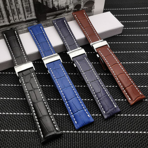 20mm 22mm 24mm Luxury Genuine Leather Watch Band For Breitling strap for NAVITIMER WORLD Avenger/navitimer belt with logo
