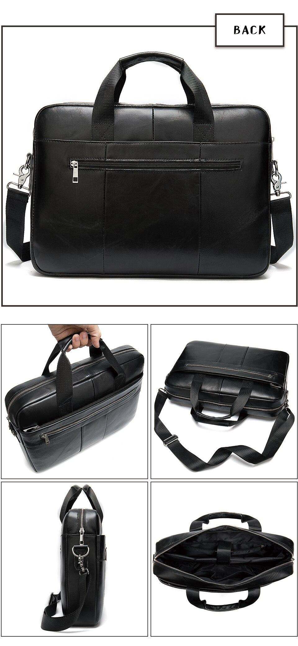 H9f9abdcec1ec4dce9d53fd7014879dea5 WESTAL Men's Briefcase Men's Bag Genuine Leather Laptop Bag Leather Computer/Office Bags for Men Document Briefcases Totes Bags