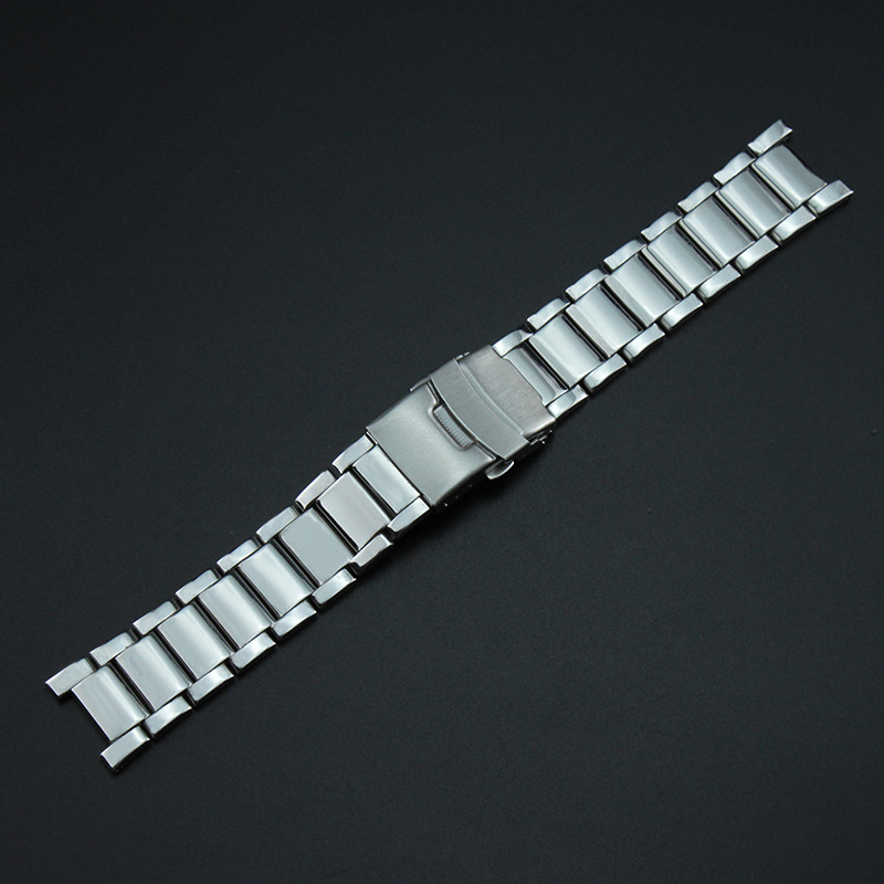 Permalink to Watch Accessories Stainless Steel Watch Band Notch 20*12 Mm Steel Belt Steel Chain Metal Watch Strap Men's Notch Watch Bracelet