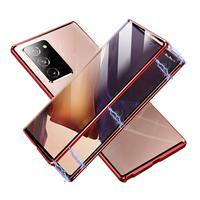 Funda magnética de doble cara para Samsung Galaxy, funda completa de vidrio templado HD para Samsung Galaxy S20, 10, S9, S8 Plus, M31, Note 8, 9, 10, A80, 360
