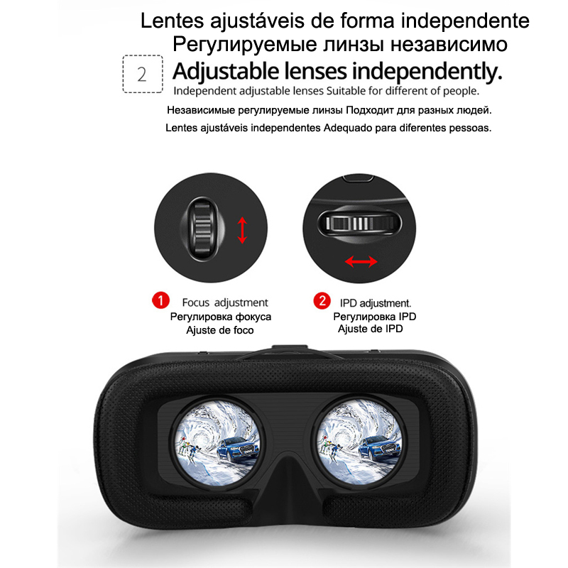 Shinecon 6.0 Casque VR Virtual Reality Glasses 3D Goggles Headset Helmet For Smartphone Smart Phone Viar Binoculars Video Game 2