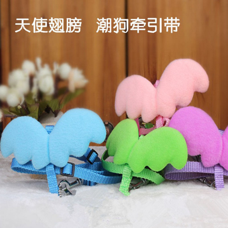 Pet's Chest-back Hand Holding Rope Angel Wings Chest And Back Nested Hand Holding Rope Dog Hand Holding Rope Pet Dog Cat Rope