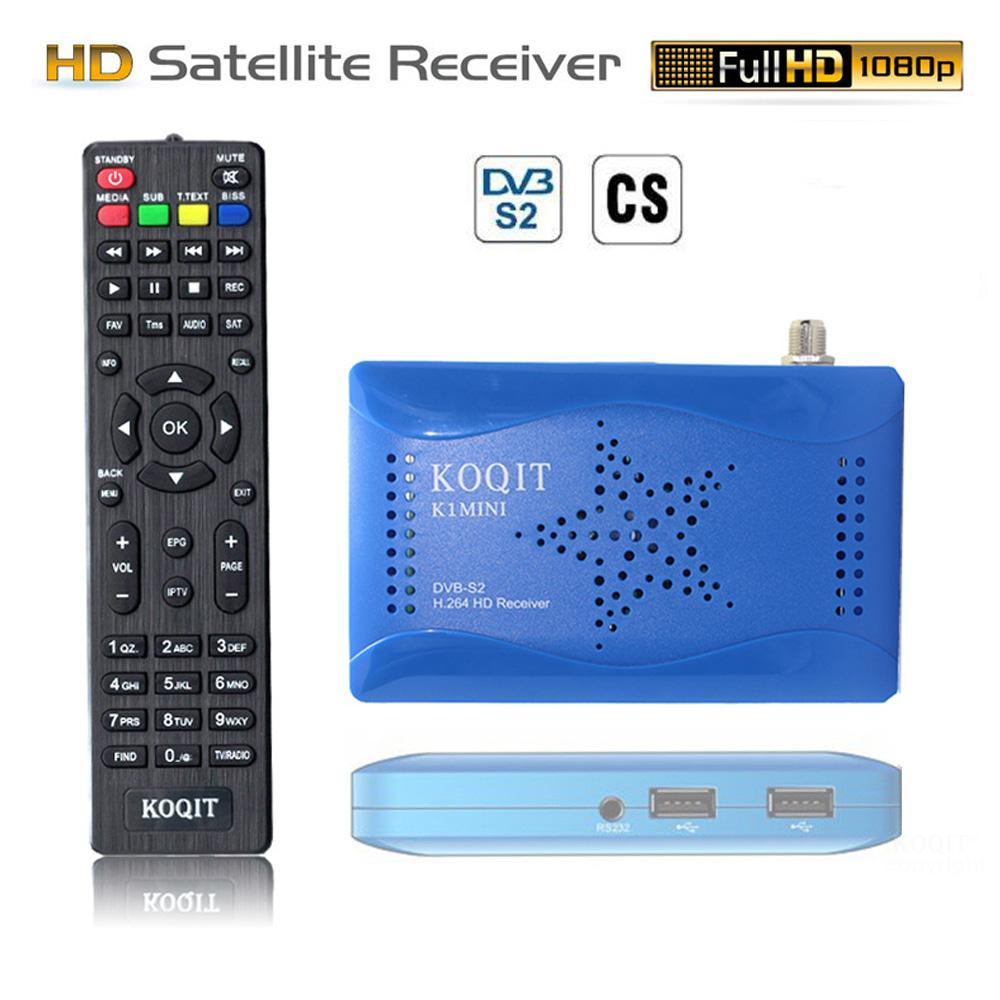 Koqit Mini DVB S2 Internet Receiver Satellite Decoder Free Satellite Receiver DVB-S2 Tv Tuner Scam /Biss/vu Youtube IPTV Finder