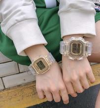 Sports Watch Women Count Down Waterproof Transparent strap Fashion Digital Wristwatches Female LED Clock Relogio Masculino