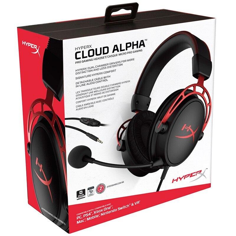 Original Kingston HyperX Cloud Alpha édition limitée e sports casque de jeu avec un microphone casque pour PC PS4 Xbox Mobile - 6