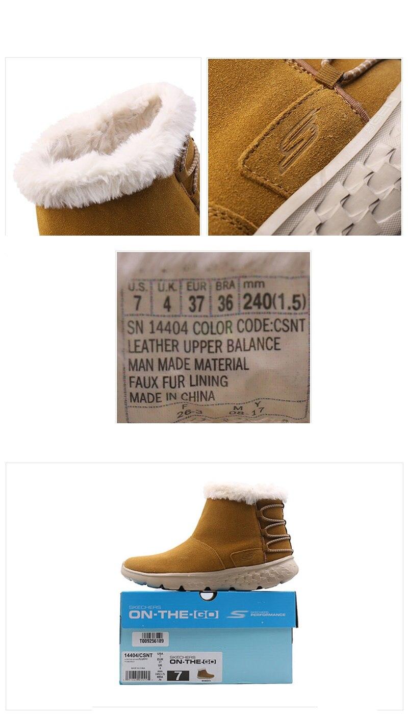 Skechers botas de invierno mujeres cómodas 2019 botas de nieve mujeres botines calientes zapatos de alta calidad botines femeninos 14404 BKPK