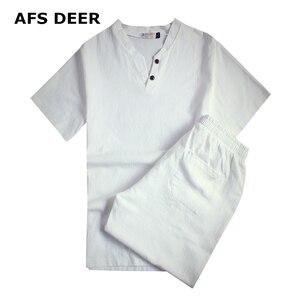 Image 1 - 2020 Brand 100% Cotton Tracksuits for Men Mens Summer Sets Causals Vetement Homme Streetwar Tops Tees & Shorts Set Plus Size9XL