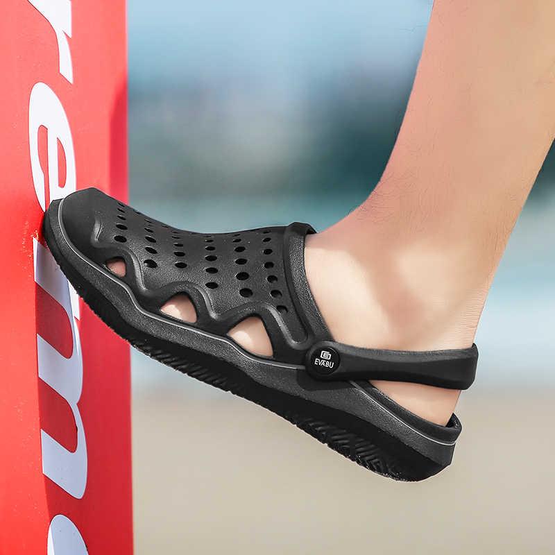 Yeni yaz jöle ayakkabı erkek plaj sandaletleri terlik erkekler Flip flop ışık Sandalias açık yaz Chanclas ucuz erkek sandalet