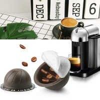 Reutilizable Compatible con Nespresso Vertuo Cápsula de café 150ml rellenable Vertuoline máquina de filtro de café láminas desechables