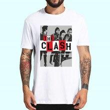 런던 전화 음악 락 밴드 충돌 T 셔츠 봄 탑스 여름 티셔츠 남성 여성 반팔 캐주얼 인물 T 셔츠