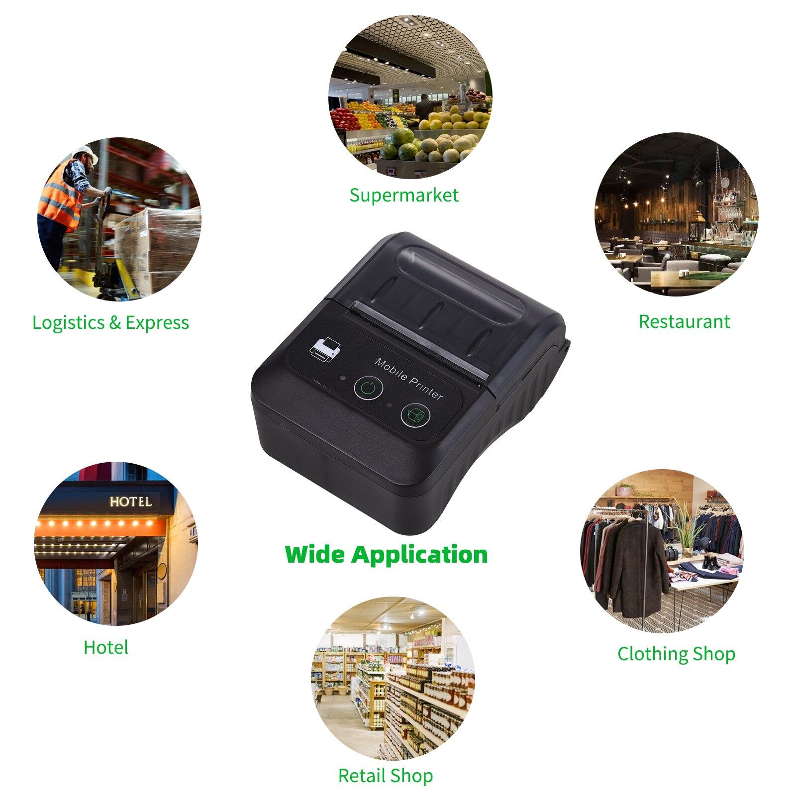 impressora termica portatil de recibos bluetooth tamanho 04