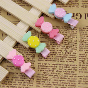 Hair Accessories For Girls Cute Candy Shape Dot Bowknot Hair Clips Baby Girl Hairpin Child Small Delicate Hair Accessories