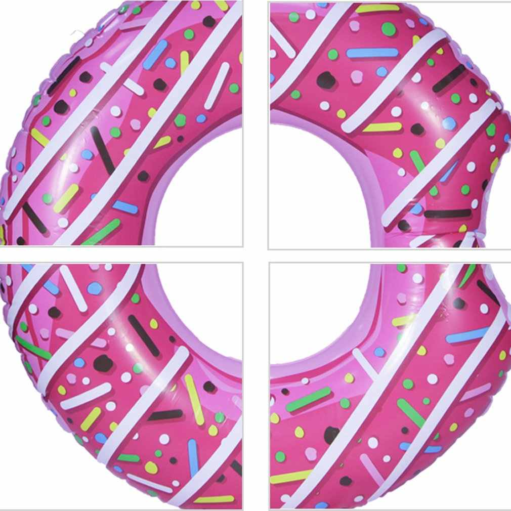 Inflável donut natação anel gigante piscina flutuador brinquedo círculo praia mar festa inflável colchão água adulto criança