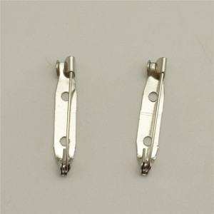 Image 4 - 1000pcs  25mm  Safety Lock Back bar Pin DIY brooch base, Dual Brooch Back Base With Safety Pin use for brooch and hair jewelry