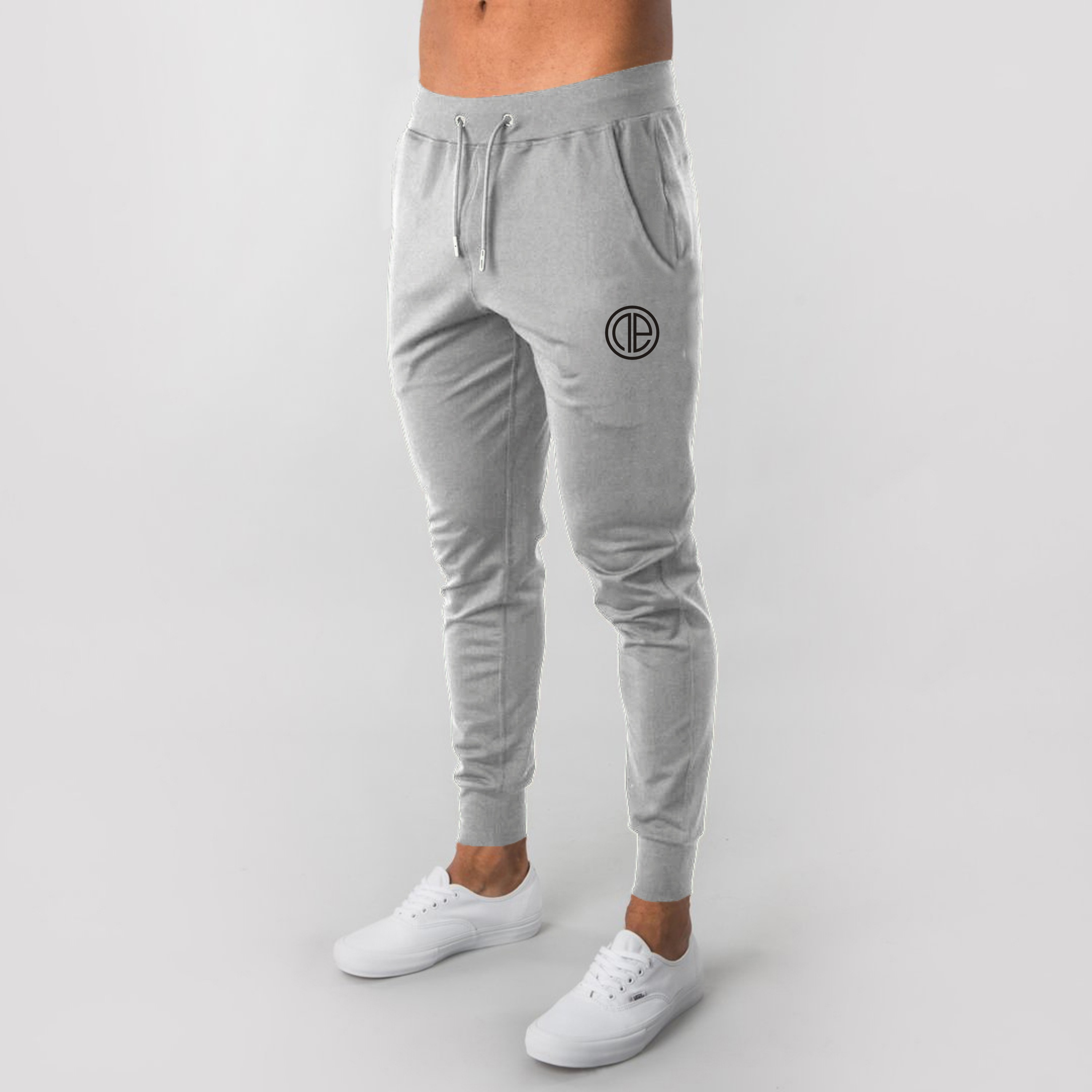 Fashion Men's Solid High-waist Lace-up Pencil Summer Pants Male Casual Workout Slim Fit Sport Gym Skinny Joggers Pants M-XXL