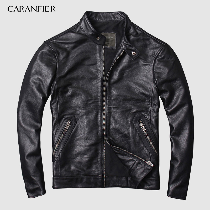 CARANFIER DHL Free Shipping Mens 100 Cowhide Genuine Leather Jacket High quality old retro motorcycle leather CARANFIER DHL Free Shipping Mens 100% Cowhide Genuine Leather Jacket High quality old retro motorcycle leather jacket 3XL