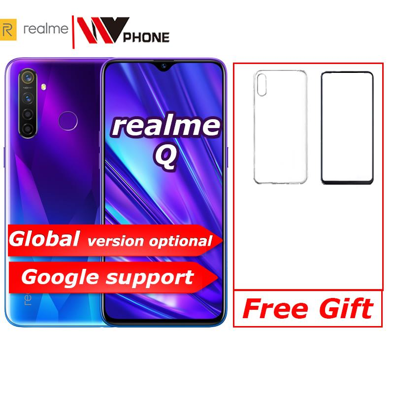 Realme Q Global Relme 5 Pro 6.3inch Moblie Phone Snapdragon 712AIE Octa Core 48MP Cellphone VOOC 20W Fast Charger