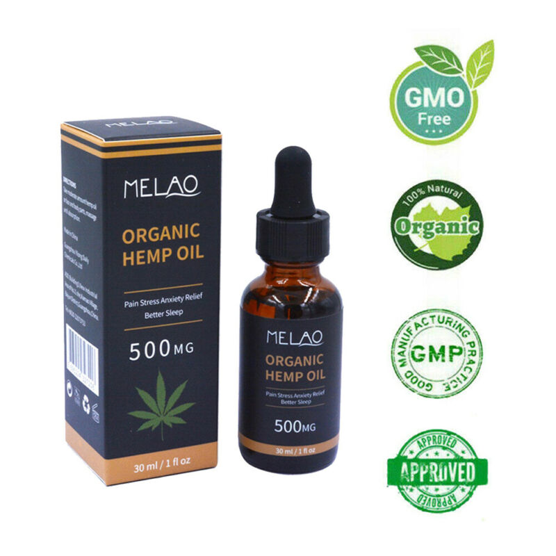 2019 NEW 30ML Premium Strength Hemp Extract Oil 500mg Organic Herbal Drops Improve Sleep Relief Pain Cannabis