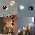 Светодиодный настенный светильник с поворотом на 360 градусов  простой коридор  спальня  Круглый Ночной светильник  простой коридор  спальня ...