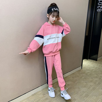 cotton fleece christmas clothes for girls clothing set teenage little girls winter suit sweatshirts wand pants 2 pieces kids set Teenage Girls Clothing Set Kids Tracksuit for Girls Cotton Korean Spring Autumn School Girls Clothes Children Clothes 6 8 12 13Y