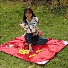 Portable Folding Camping Mat Pocket Waterproof Blanket Outdoor Picnic Sand Beach Mat Throw Sleeping Blanket
