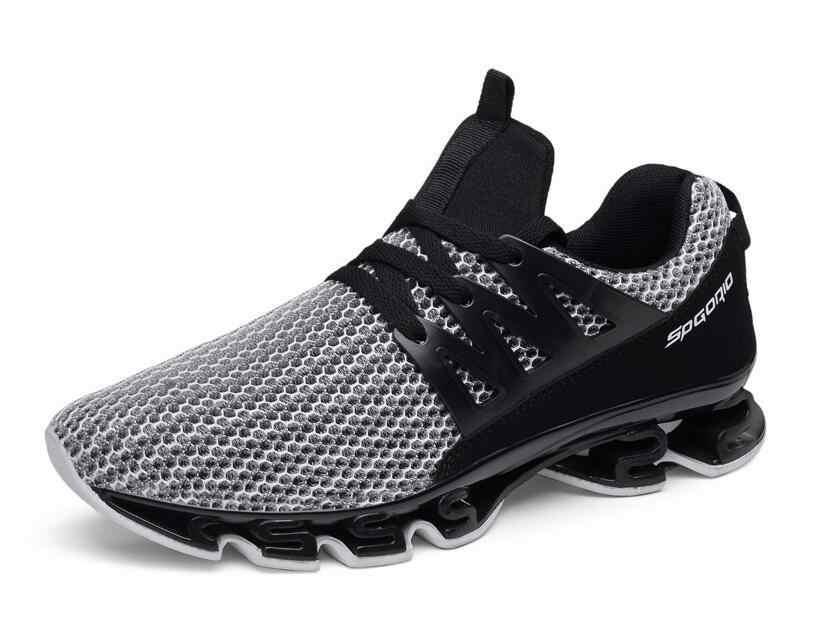احذية الجري الفاخرة العلامة التجارية مصمم أحذية رياضية الدانتيل يصل رغوة الذاكرة عادية المشي الجري رياضة المدربين أحذية حجم المملكة المتحدة