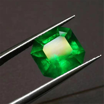 European royal customized gemstone jewelry making 4.43ct Colombia natural vivid green emerald loose stone 2