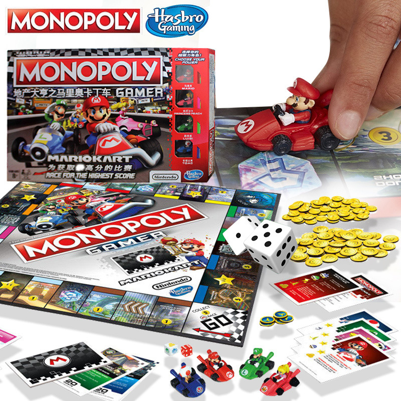 Hasbro Gaming Monopoly Super Mario Go-kart Board Game Play For Adult Family Gaming Education Toy