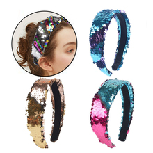 New 2019 Vintage Sequin Hair Band For Women Shining Headbands Wide Fashion Jewelry Hairband Accessories Femme