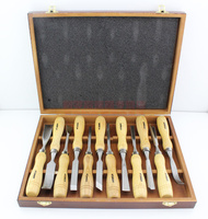 12 pcs Wood Carving Set Wood Working Tools Chisel Kit Carvers Graving Knife In Box chisel ferramentas marcenaria