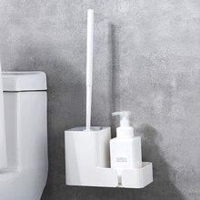 Baffect креативная туалетная щетка и держатель с полкой настенное крепление Пластиковая Щетка Для Чистки унитаза с длинной ручкой полка для унитаза