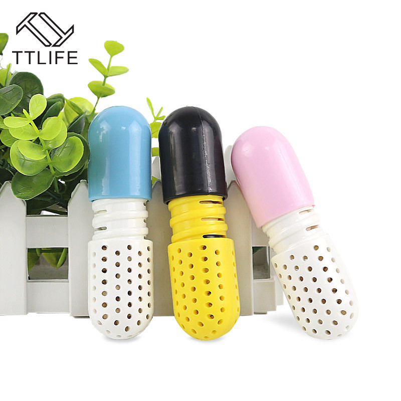 2pc Moisture Absorber Shoes Deodorant Capsule Shaped Desiccant Drawer Shoes Room Carbon Deodorizer Dehumidify Tool Dehumidifier
