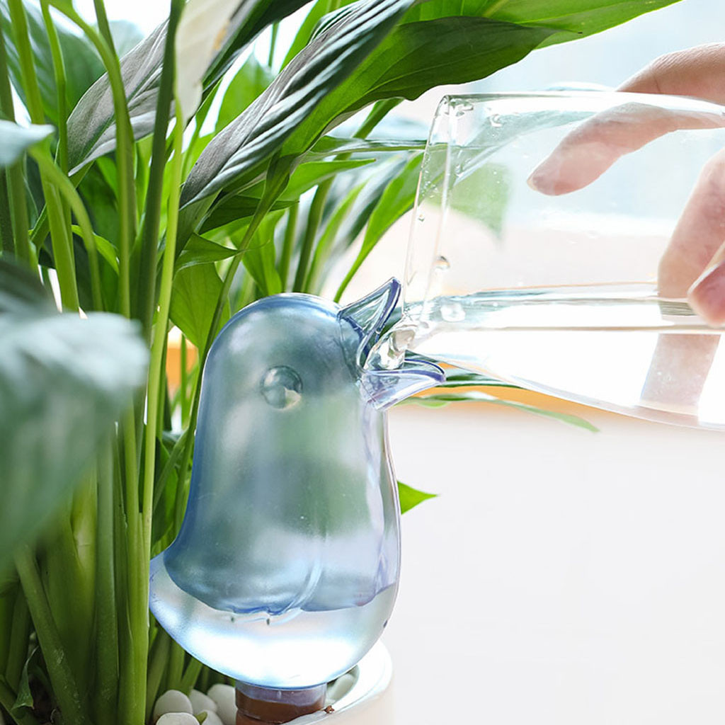Glass Plant Flowers Water Feeder Self Watering Bird Swan Plant Waterering