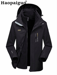 Осенне-зимняя Толстая теплая ветровка для мужчин размера плюс M-3XL Jaqueta Masculina, приталенная Мужская спортивная куртка-бомбер с капюшоном для м...