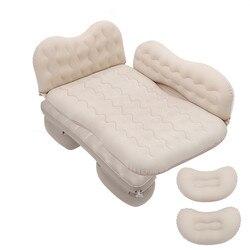 Wielofunkcyjny SUV nadmuchiwany materac łóżko samochodowe na tylnym siedzeniu odkryty Camping poduszka Sofa dmuchana z poduszką łóżko w kształcie samochodu