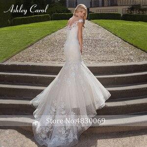 Image 5 - Ashley Carol robe de mariée style sirène en dentelle, avec des applications, épaules dénudées, robe de mariée Vintage Sexy, 2020