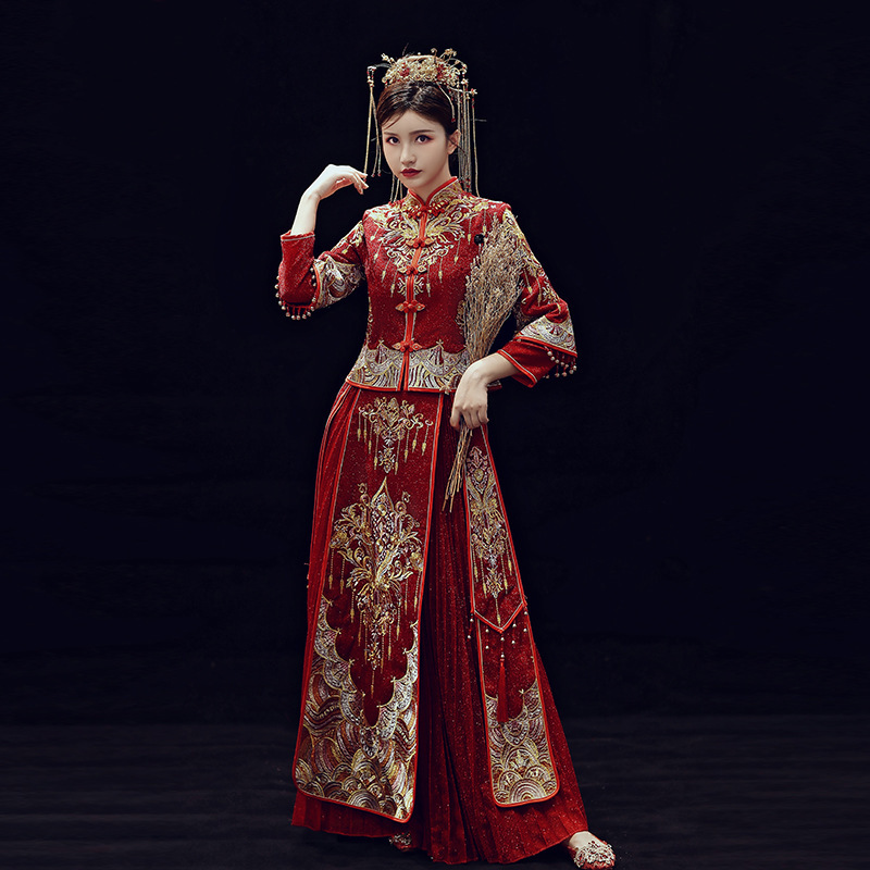Xiuhe The Bride 2020 New Chinese Style Dress Wedding Toast Under Trill Longfeng Xiuhe Existing Show A Suit Summer