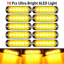 цена на Car Truck Emergency Beacon Warning Hazard Flash Strobe Light Car Vehicle Truck Hazard Strobe Light 18W Car Light Amber 6 LED